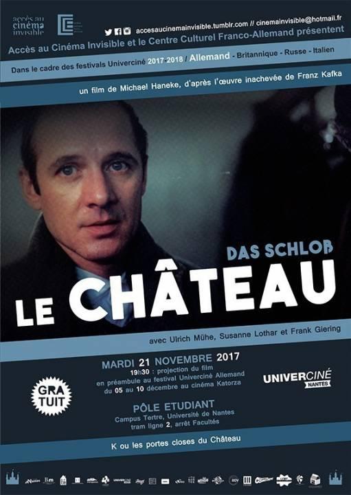 Affiche de la projection de Das Schloss avec Accès Cinéma Invisible